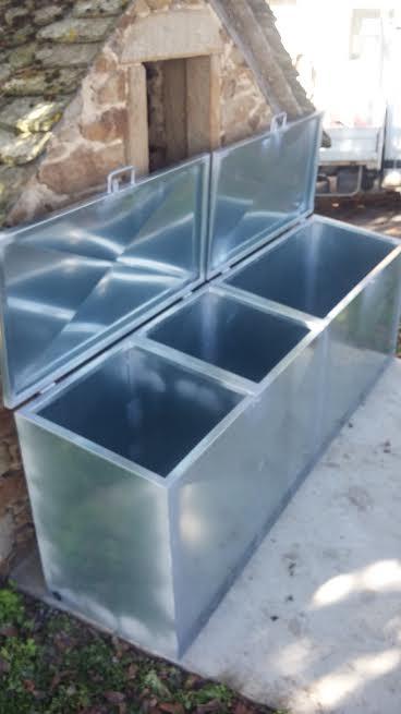 Container de tri sélectif en galva 2