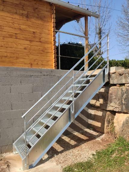 Escalier sur mesure galvanisé
